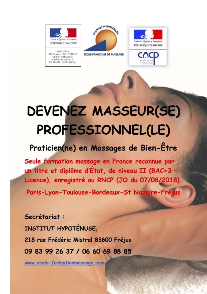 Devenez Masseur professionnel à Toulouse