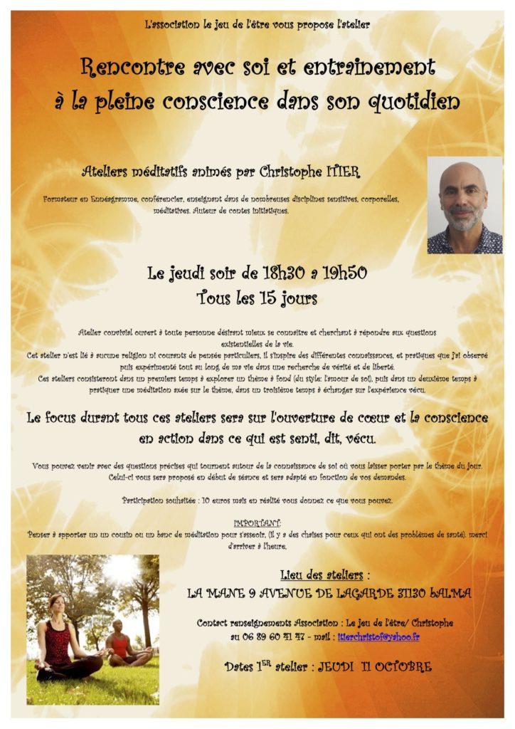 atelier méditatif sur Balma avec Christophe Itier