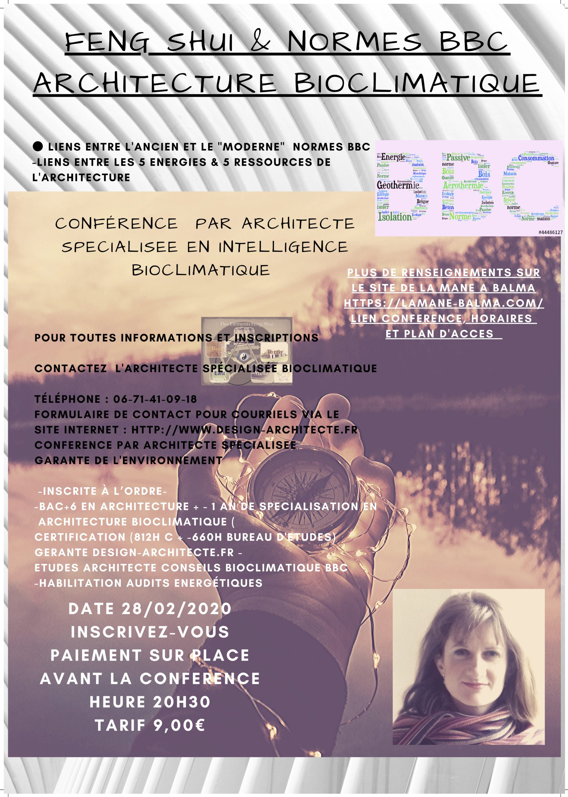 Conférence : Feng shui et architecture bioclimatique-normes BBC