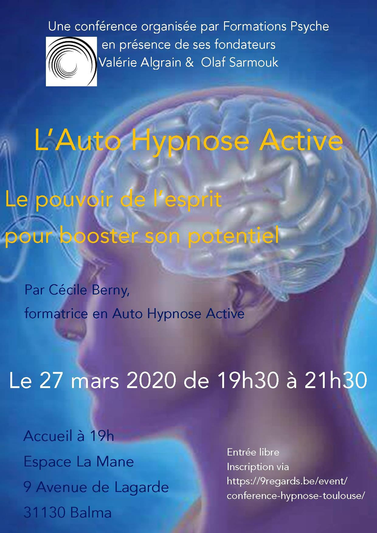 Conférence L Auto Hypnose Active pour booster son potentiel