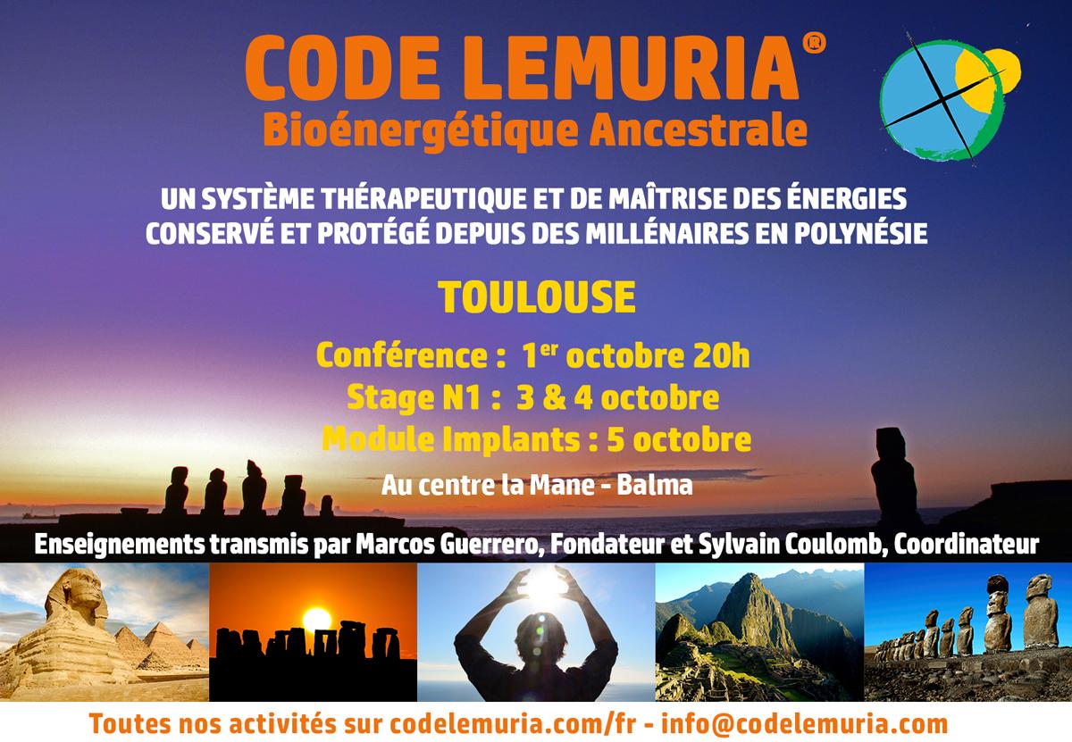 Code lémuria Conférence et Stage à Balma - Toulouse (31)