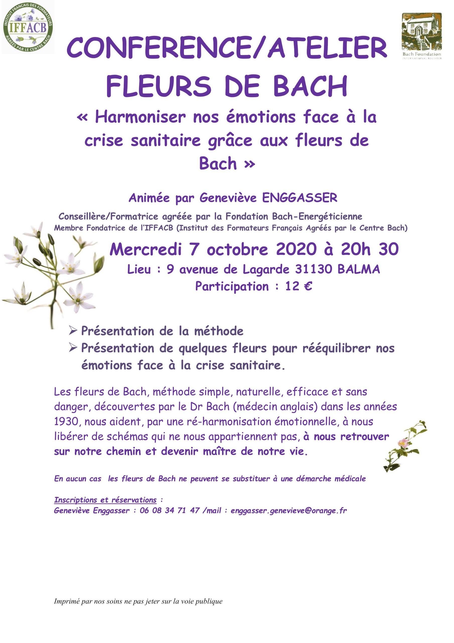 Conférence Fleurs de Bach Balma