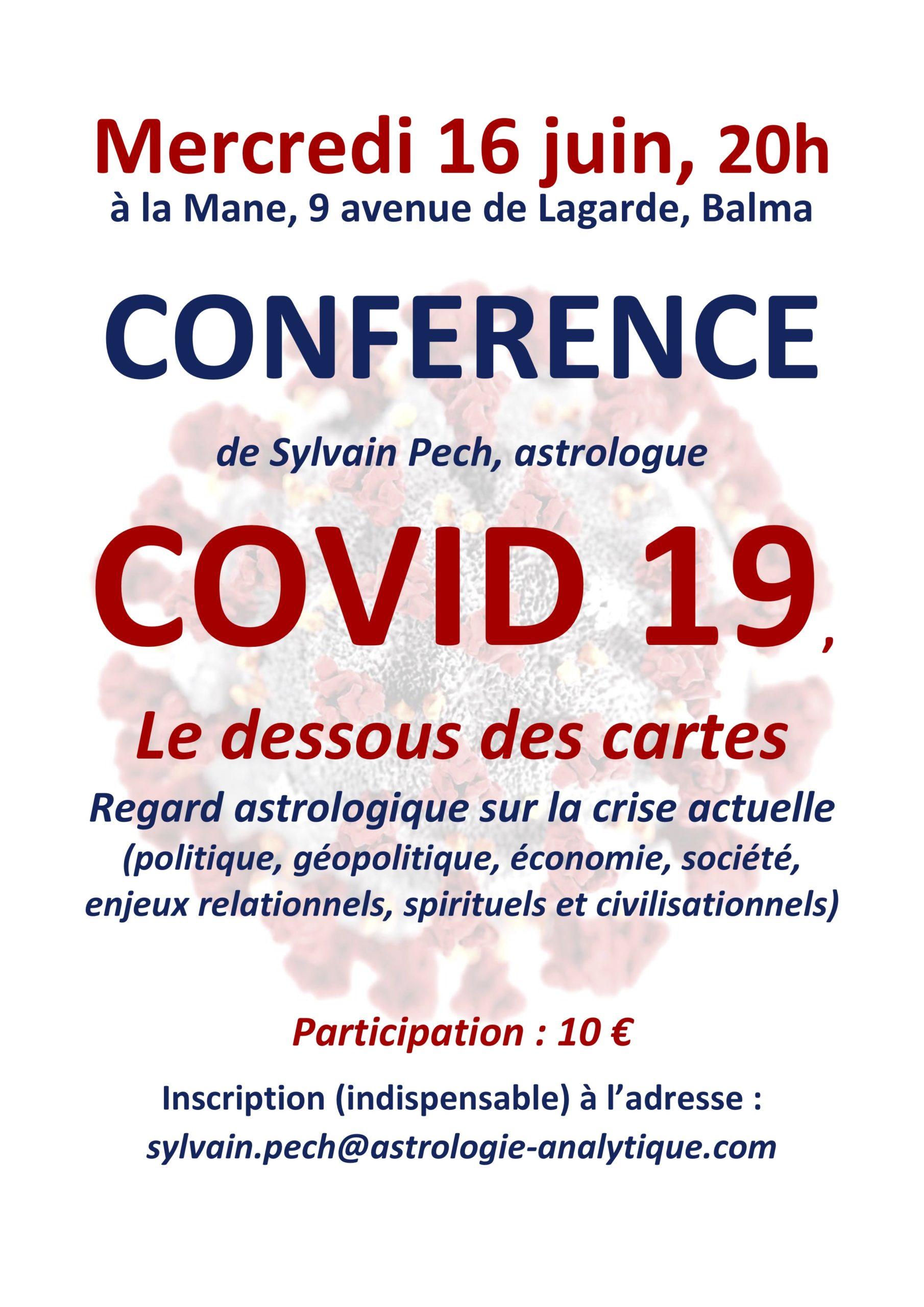 Conférence Astrologie Balma COVID 19, LE DESSOUS DES CARTES
