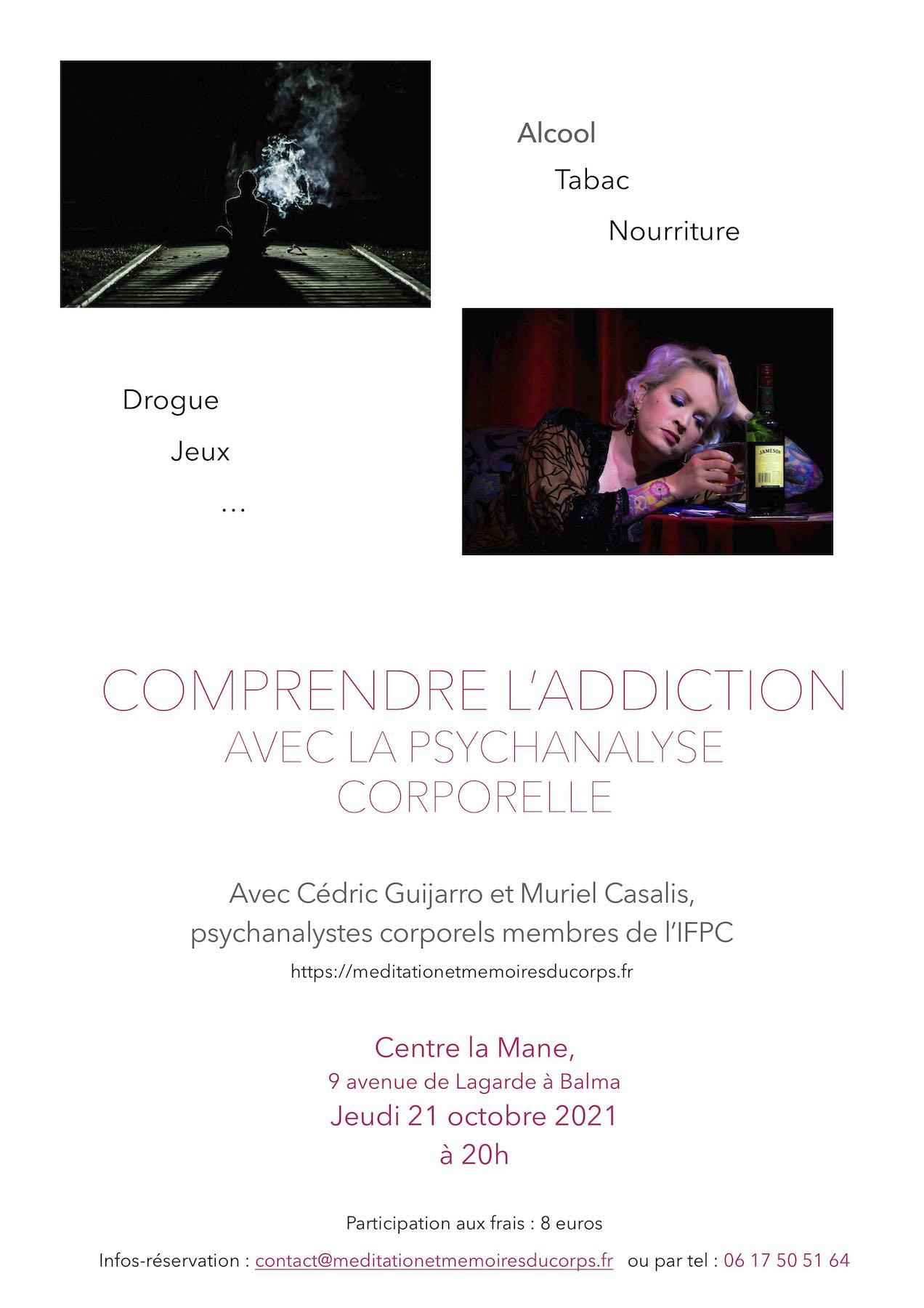 Conférence : Comrendre les addictions grâce à la psychanalayse Corporelle